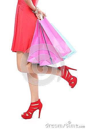 Shopping bag woman - shopper concept