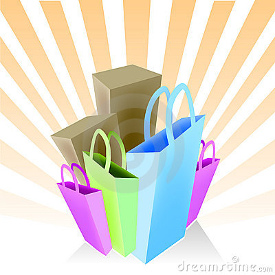 Free Shopping Bags And Boxes Stock Image - 7059251