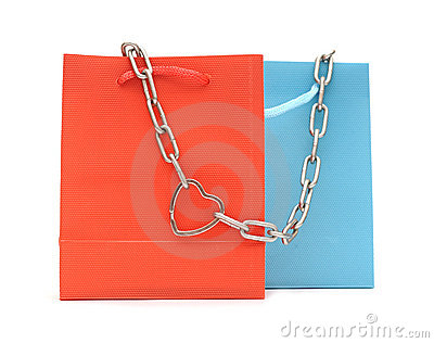 Shopping bags and chain