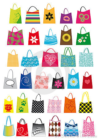 Free Shopping Bags Design Royalty Free Stock Image - 19821116