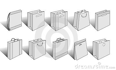 Shopping bags illustrated version 3