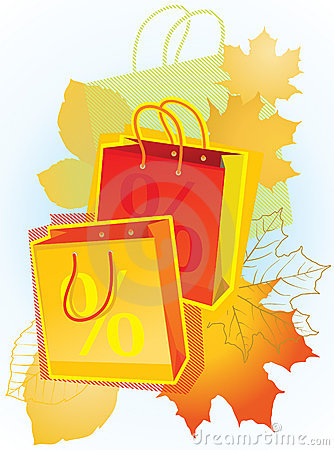 Shopping bags for sales promotion.