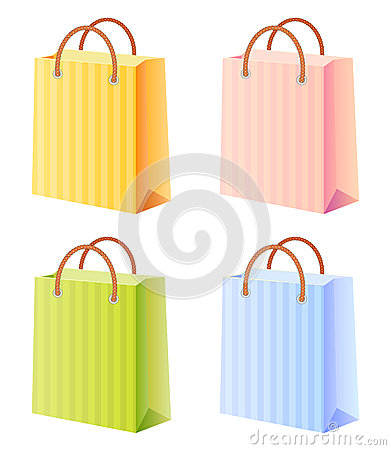 Shopping Bags Set Stock Photography - Image: 24746612