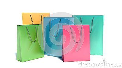 Shopping bags,  on white background