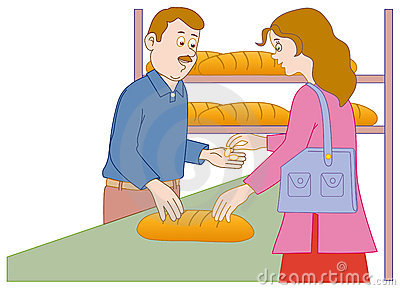 Shopping in the bakery