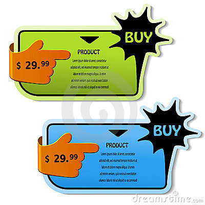 Shopping banners for product