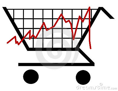 Shopping bar graph