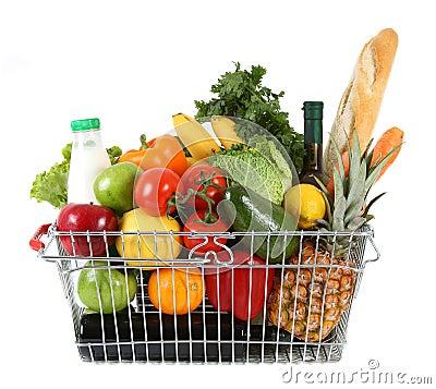 Free Shopping Basket Royalty Free Stock Photos - 11819838