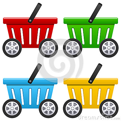 Shopping Basket with Big Wheels