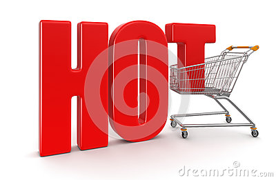 Shopping Basket and Hot (clipping path included)