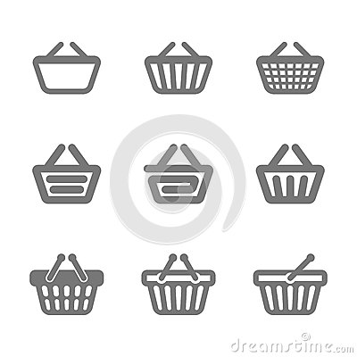 Free Shopping Basket Icons Royalty Free Stock Images - 34499119