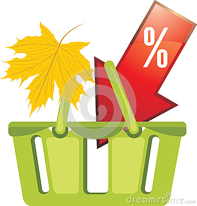 Shopping basket. Seasonal discounts
