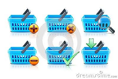 Shopping baskets set