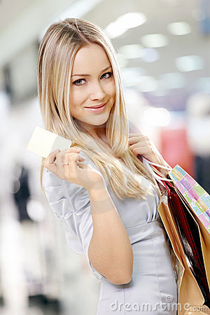 Free Shopping Blonde Royalty Free Stock Photo - 12573295
