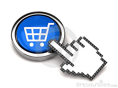 Shopping button and hand cursor