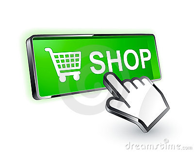 Shopping button icon
