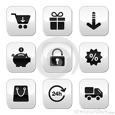 Shopping buttons for website / online store