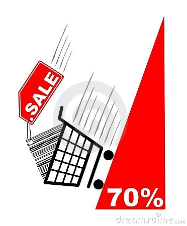Free Shopping Card With Sale Label And Pecentual Sale Royalty Free Stock Photos - 2066238