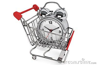 Shopping Cart with Alarm Clock
