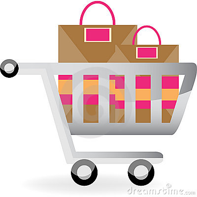 Shopping Cart and Bags