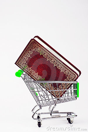 Shopping Cart with a book