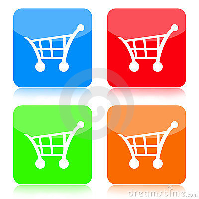 Shopping Cart Button Set