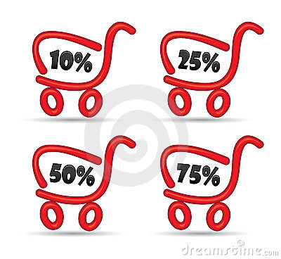 Shopping cart with discount sale offers