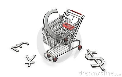 Shopping cart with euro