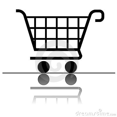 Shopping cart icon for design