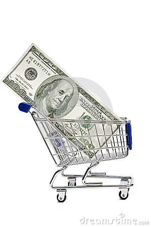 Shopping Cart With Money XXXL