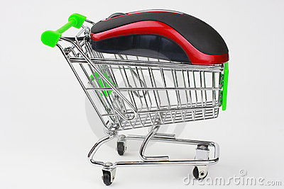 Shopping Cart with a mouse