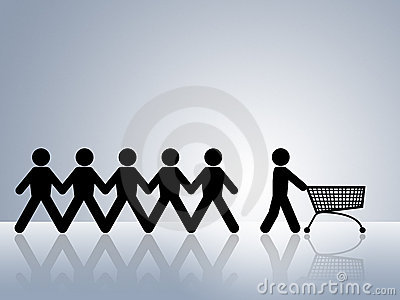 Shopping cart online web shop order