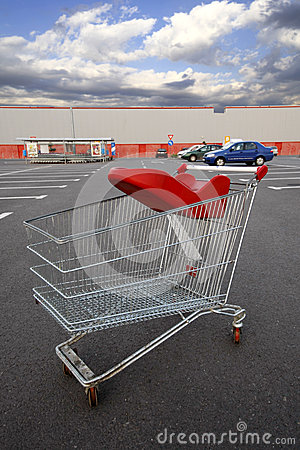 Shopping cart outside