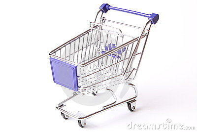 Shopping cart studio isolated