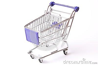 Shopping cart studio isolated