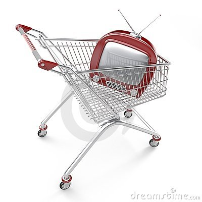 Shopping cart with TV