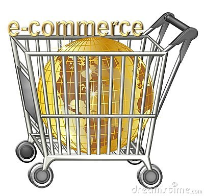 Free Shopping Cart With Golden Globe Royalty Free Stock Photography - 10498027