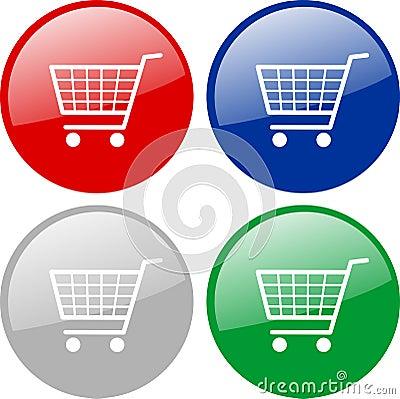 Free Shopping Carts Icon Royalty Free Stock Photo - 10686275