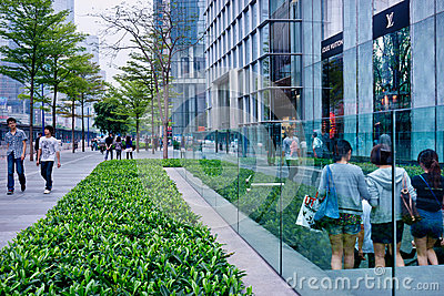 Shopping center china Editorial Stock Photo