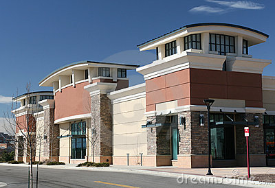Shopping center exterior stock photography image 6607402 for Shopping mall exterior design