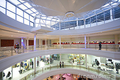 Shopping center interior Editorial Photography
