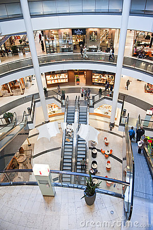 Shopping center interior Editorial Stock Image
