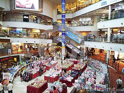 Shopping center sales Editorial Stock Image