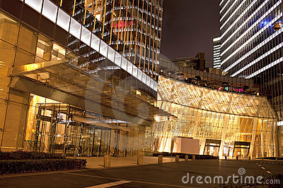 Shopping Centergate  in night,shanghai,China