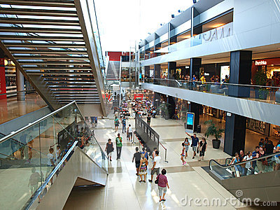 Shopping centre Editorial Stock Image