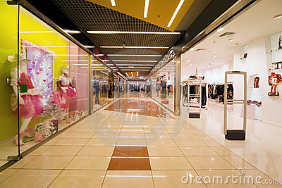 Shopping centre corridor