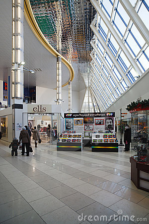 Shopping centre (mall) Editorial Stock Photo