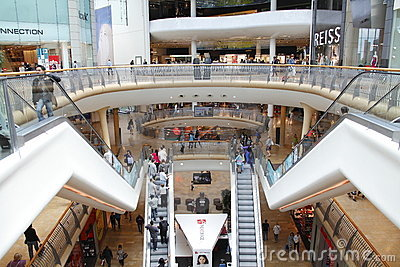 Shopping centre mall Editorial Stock Photo