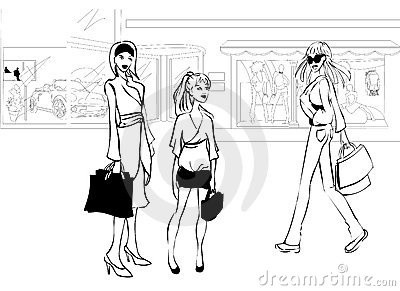 Shopping in the city centre