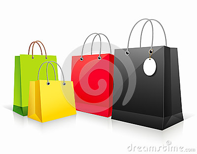 Shopping collection colorful bag